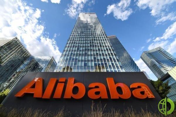 Стоимость Alibaba выросла на 58 млрд долларов США