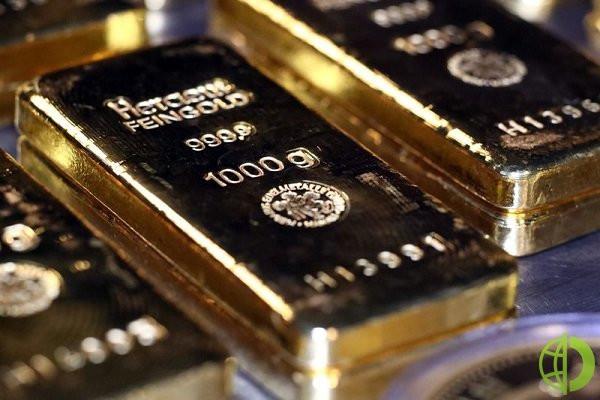 Фьючерсы на золото в США обвалились на 0,3%