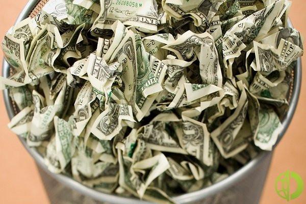 Национальная валюта США опустилась до 1,1870 по отношению к евро