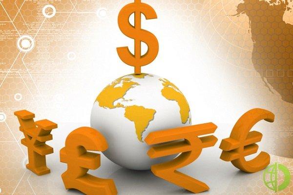 Американский доллар снижается относительно евро