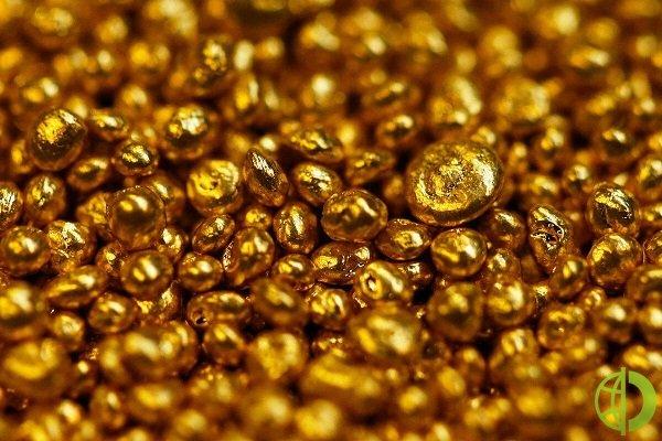 Стоимость золота постепенно увеличивается