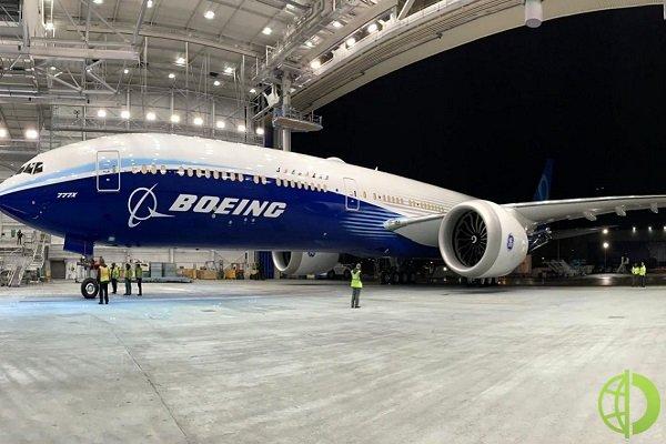 В 2020 году общий объем заказов Boeing составил 184 единицы