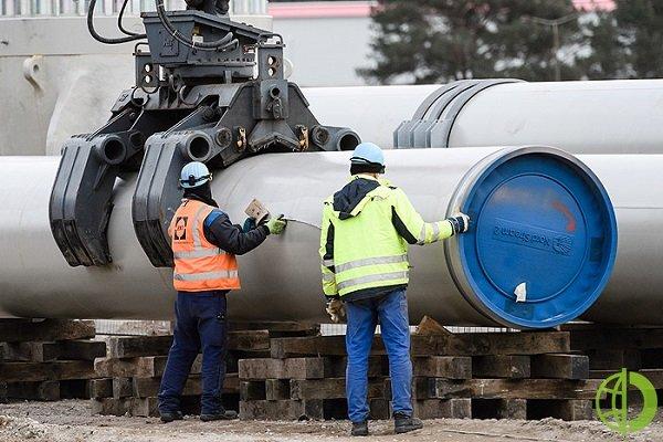 1 апреля оператор строительства — компания Nord Stream 2 AG — сообщила, что газопровод готов на 95 процентов