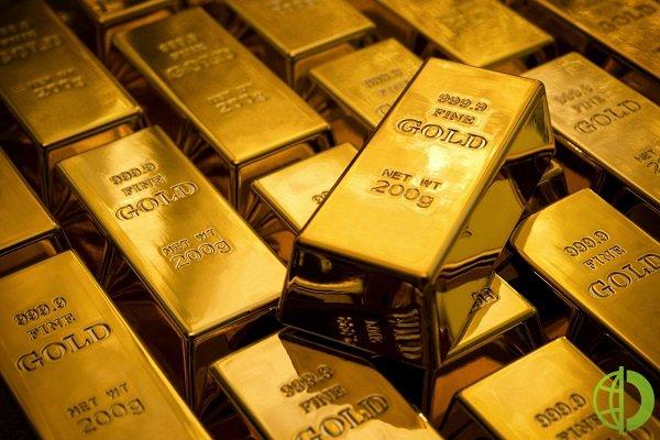 Спотовая стоимость золота упала на 0,1%