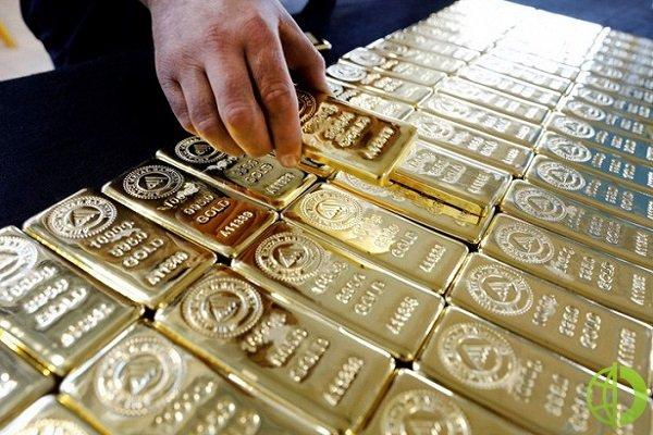 Спотовая цена золото упала на 0,3% до 1892,72 доллара за унцию