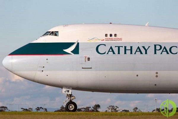 Ослабление карантинных ограничений с середины апреля помогло Cathay в мае выполнить на 24% больше грузовых рейсов