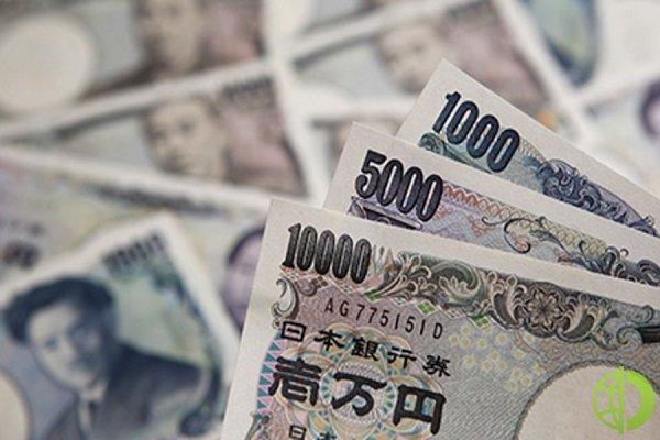 Японская иена укрепилась относительно мировых валют